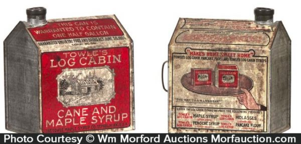 Towle's Log Cabin Maple Syrup Tin