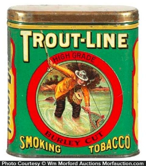 Trout Line Pocket Tobacco Tin