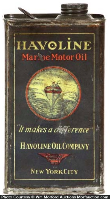 Havoline Marine Oil Can