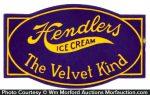 Hendlers Velvet Ice Cream Sign