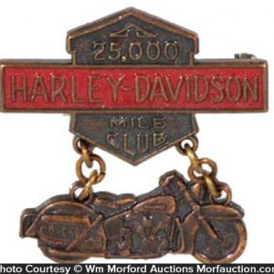 Harley Davidson 25,000 Mile Pin