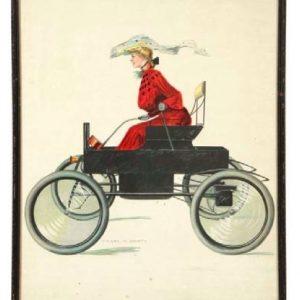 Christy Automobile Girl Art Print