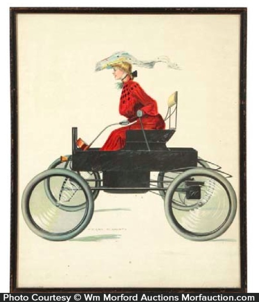 Christy Automobile Girl Art Print