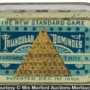 Triangular Dominoes Game Tin