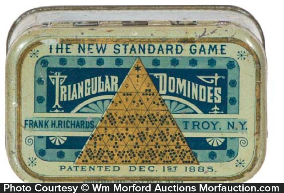 Triangular Dominoes Game Tin