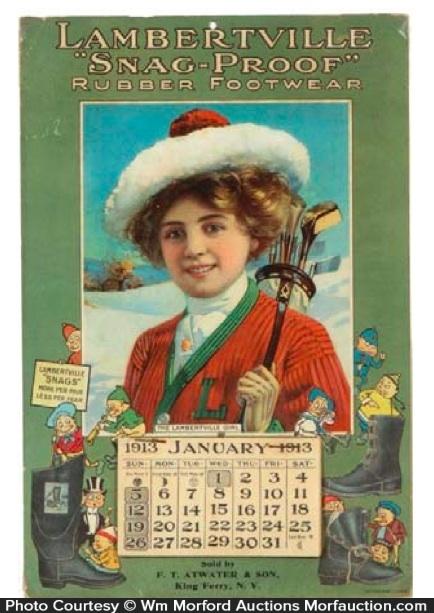 Lambertville Snap Proof Boots Calendar
