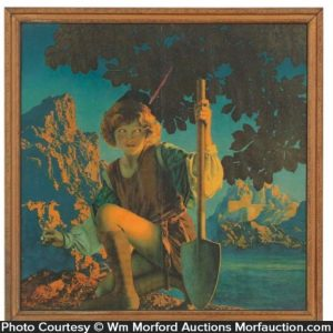 Maxfield Parrish Jack and The Beanstalk Poster