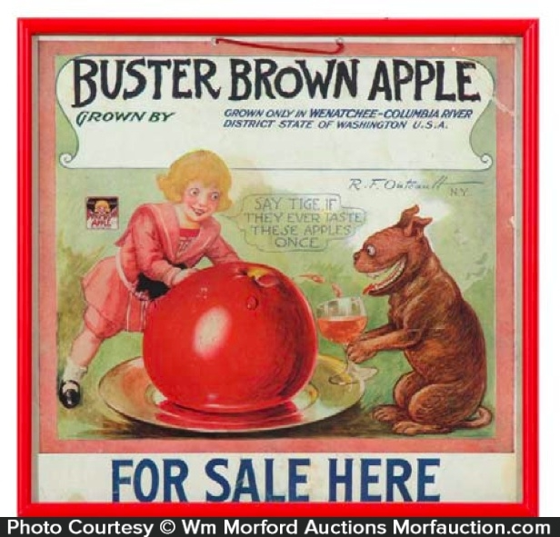 Buster Brown Apples Sign