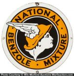 National Benzole Oil Sign