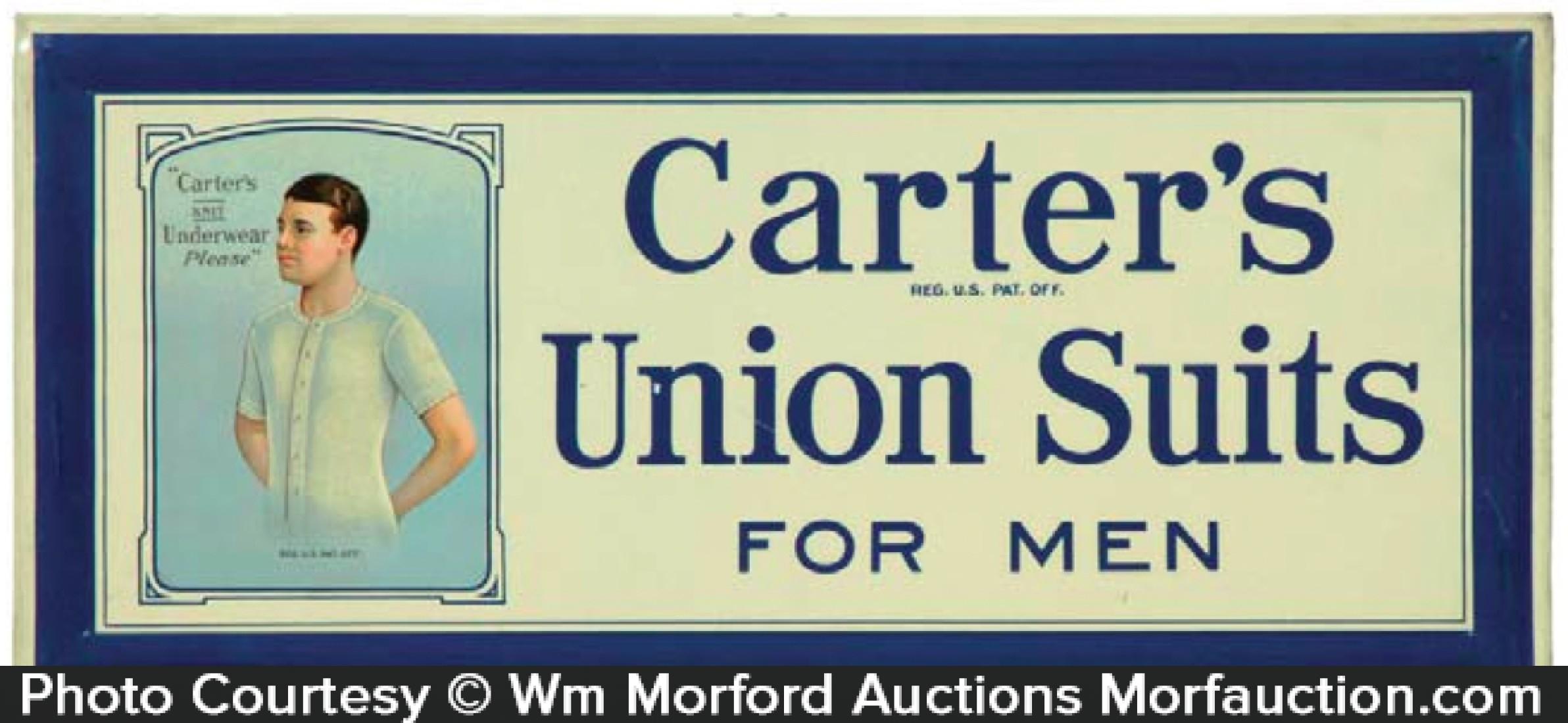 Carter's Union Suits Sign
