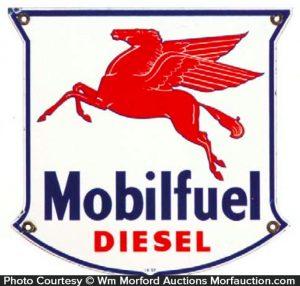 Mobilfuel Diesel Sign