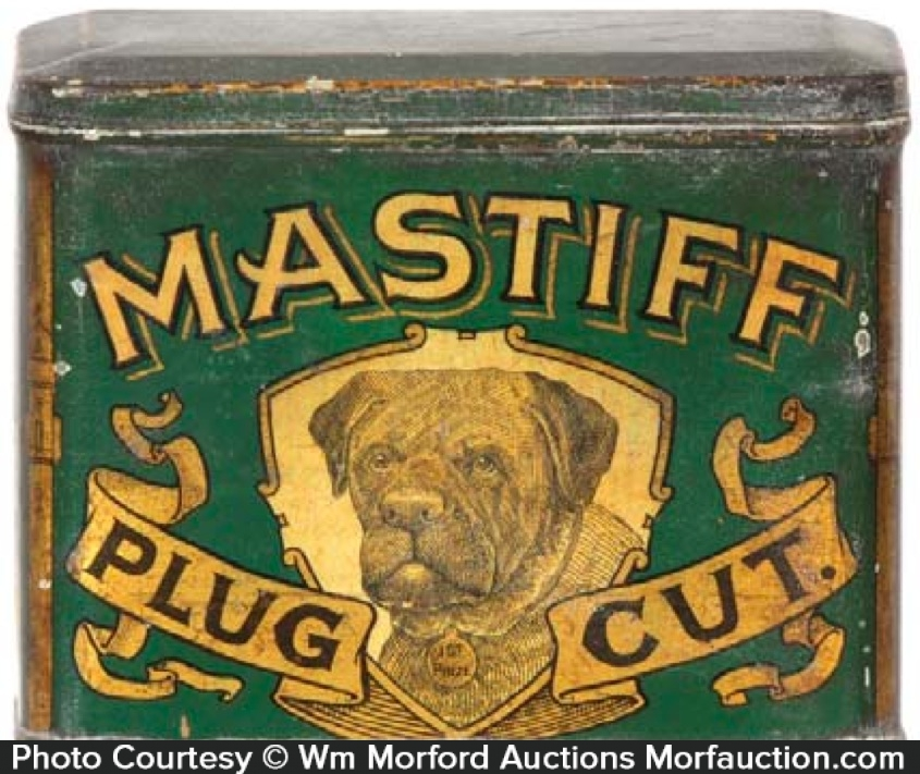 Mastiff Tobacco Tin