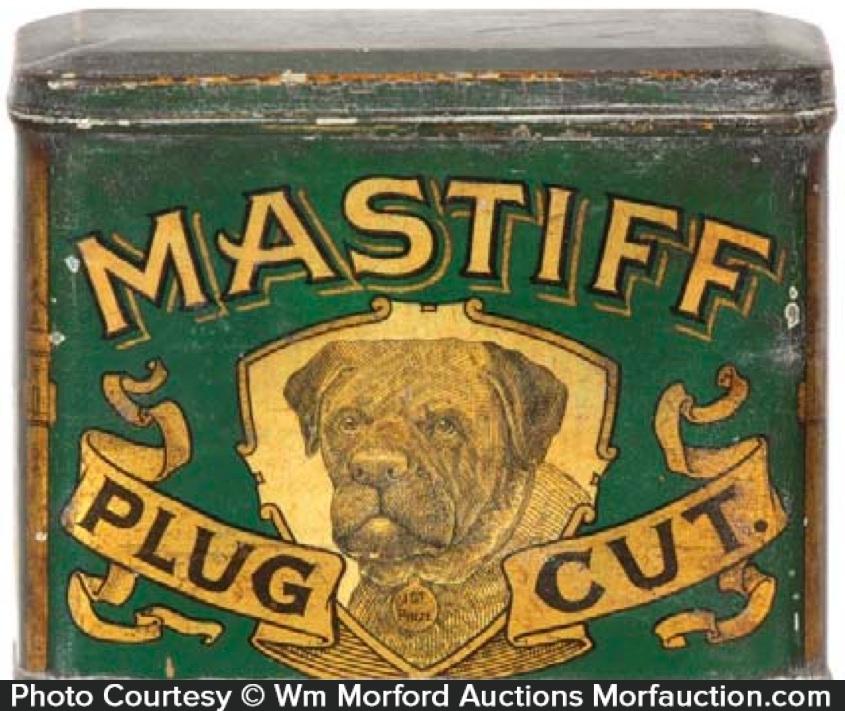 Mastiff Tobacco Tin
