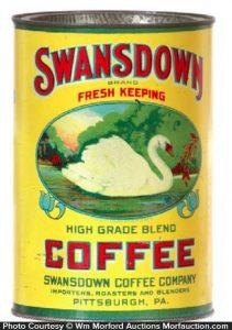 Swansdown Coffee Tin
