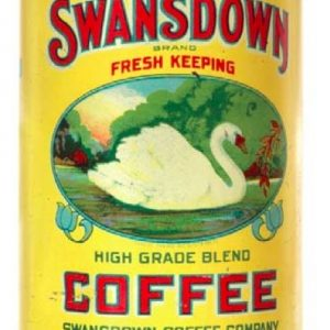 Swansdown Coffee Tin