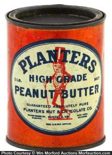Planters Peanut Butter Tin