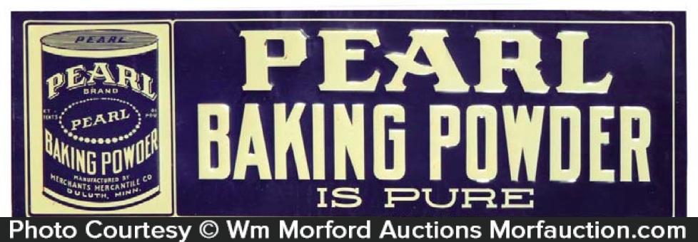 Pearl Baking Powder Sign