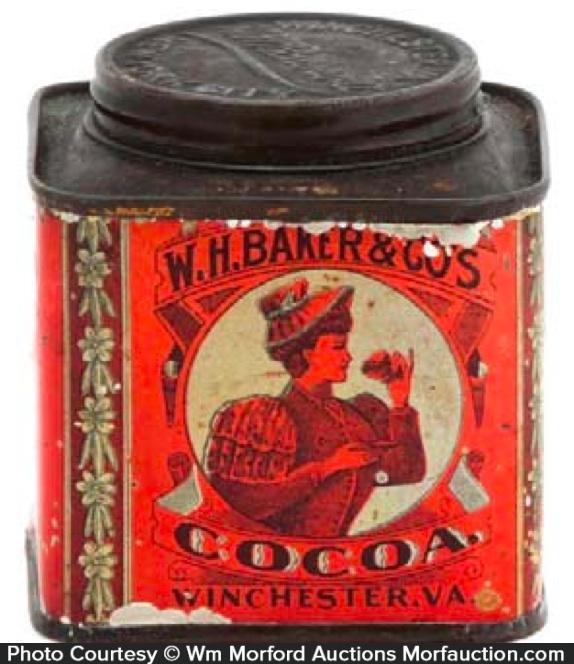 Miniature Baker's Cocoa Tin