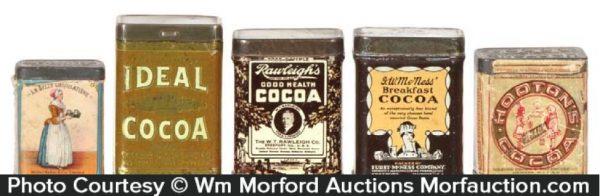 Vintage Cocoa Sample Tins