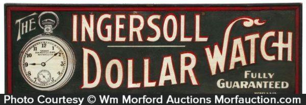 Ingersoll Dollar Watch Sign