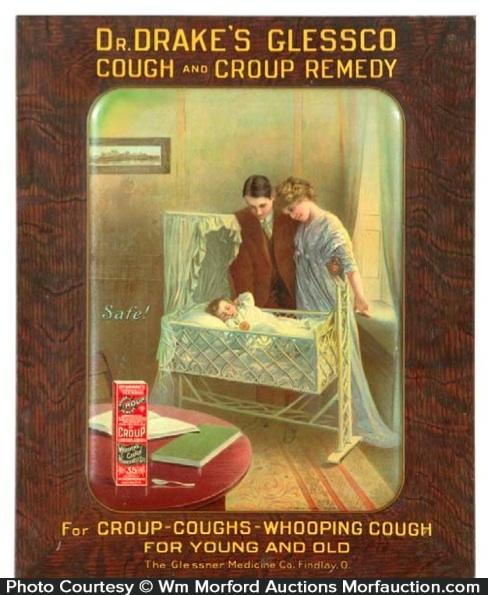 Dr. Drake's Glessco Cough Remedy Sign