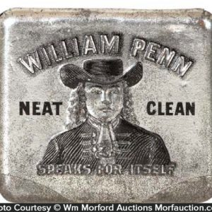 William Penn Tobacco Tin