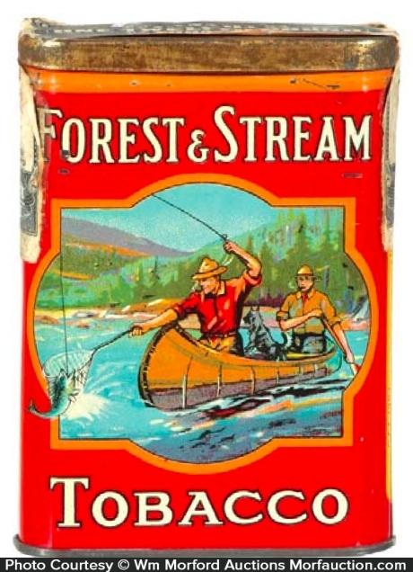 Forest & Stream Tobacco Tin