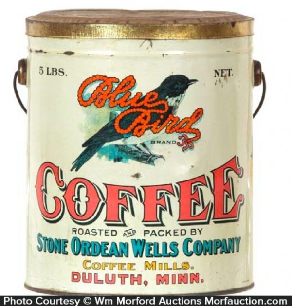 Blue Bird Coffee Pail