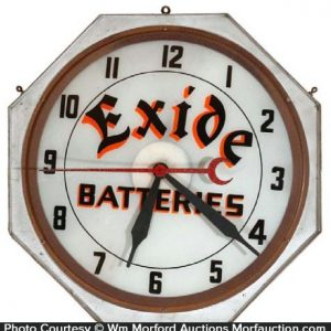 Exide Batteries Clock