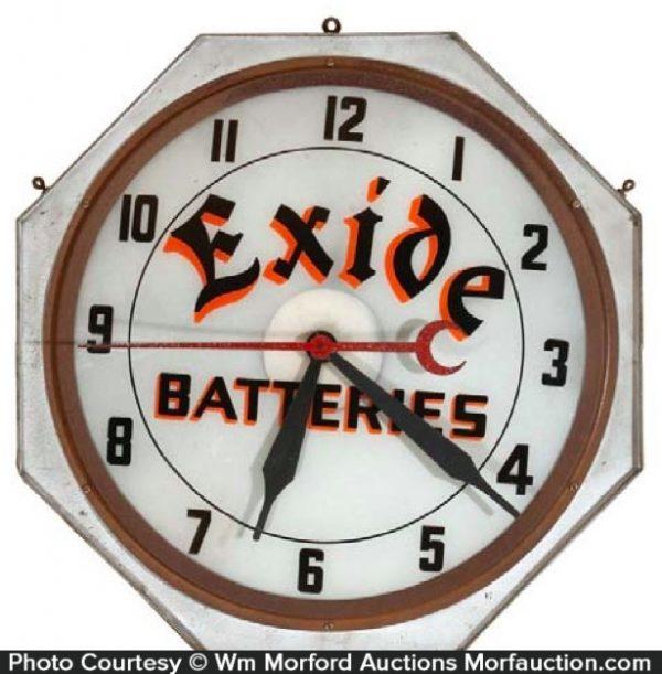 Exide Batteries Clock