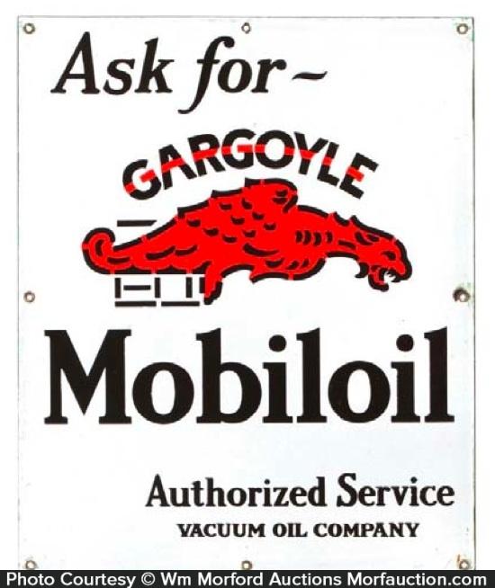 Gargoyle Mobiloil Sign