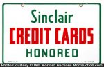 Sinclair Credit Cards Sign