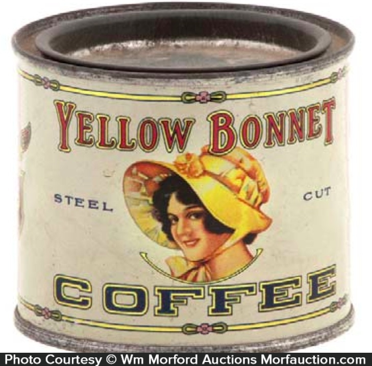 Yellow Bonnet Coffee Sample Tin