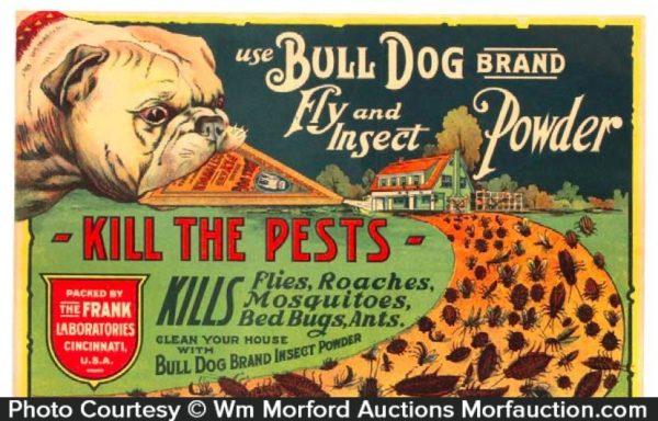Bull Dog Insect Powder Sign