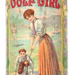 Golf Girl Talcum Tin