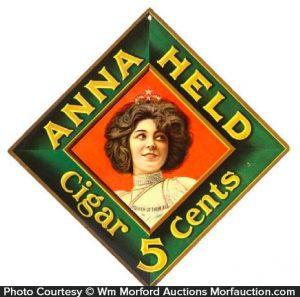 Anna Held Cigars Sign