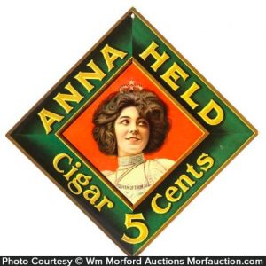 Anna Held Cigars Sign