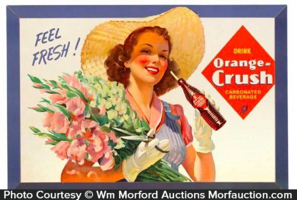 1940's Orange Crush Sign
