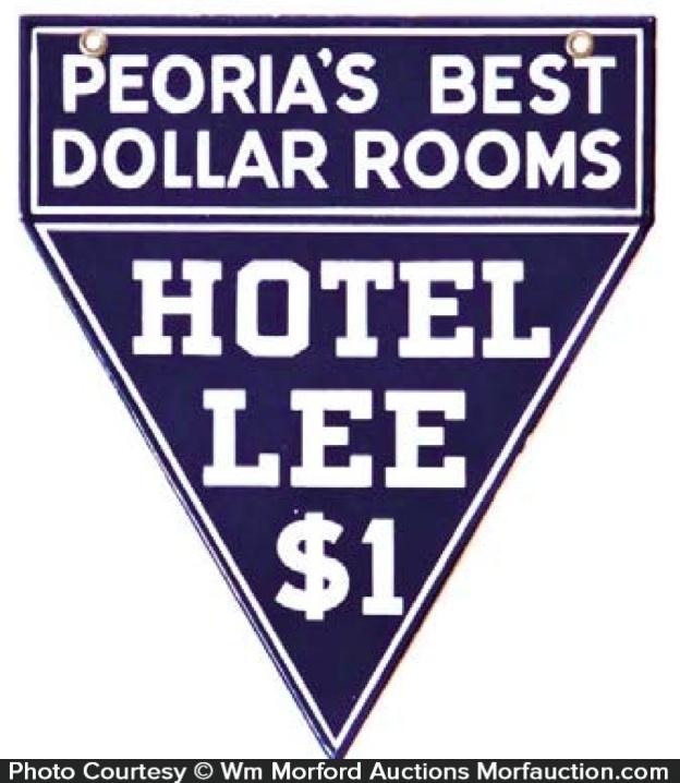 Porcelain Hotel Lee Sign