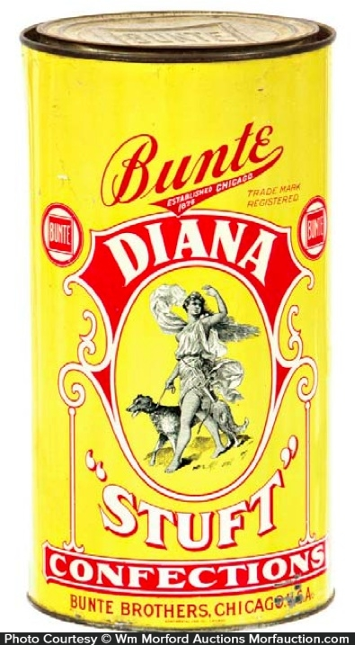 Bunte Diana Stuft Candy Tin