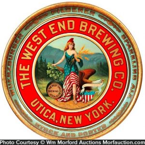 West End Brewing Beer Tray