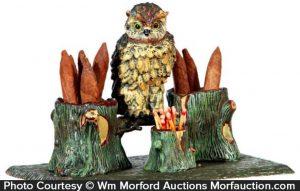 Vintage Owl Smoking Set