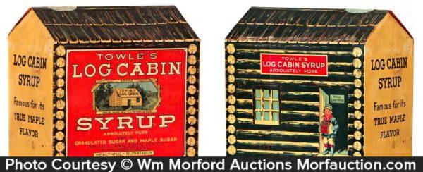 Log Cabin Syrup Display