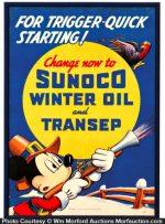Sunoco Winter Oil Sign