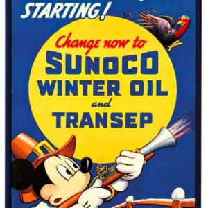 Sunoco Winter Oil Sign