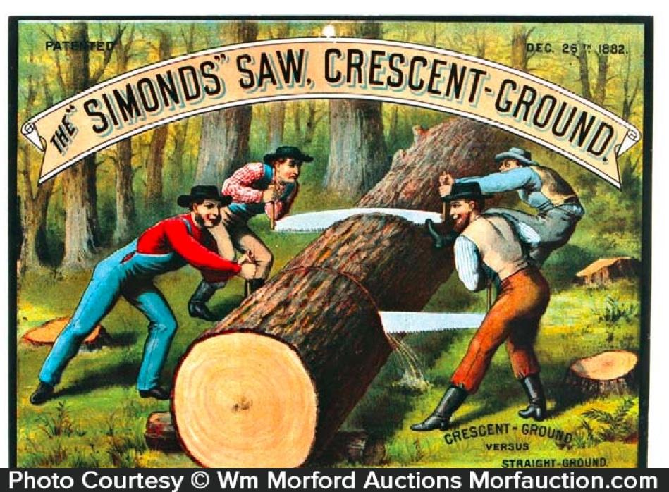 Simond's Crescent Saws Sign