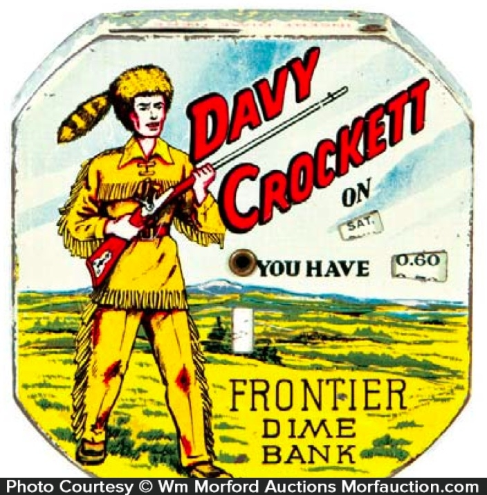 Davy Crockett Dime Bank