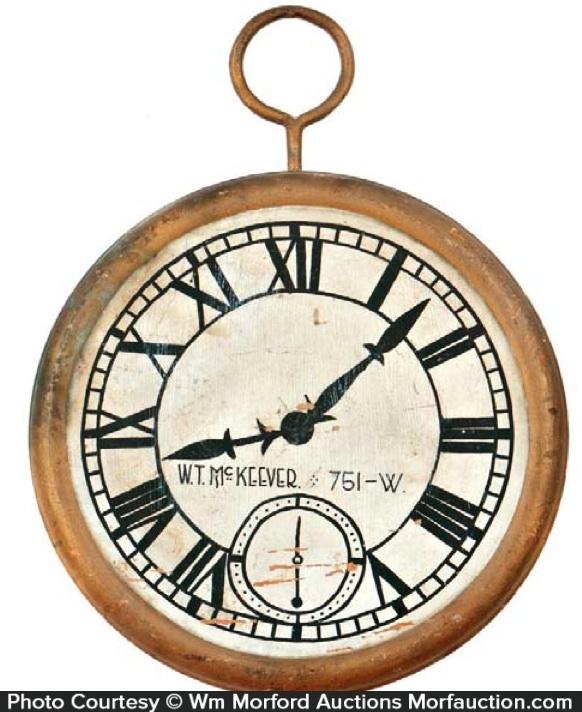Vintage Clock Trade Sign