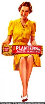 Planters Sitting Lady Display
