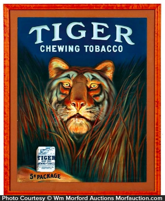 Tiger Tobacco Sign